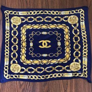 CHANEL Accessories - •SOLD•CHANEL Vintage Rue Cambon Silk Scarf